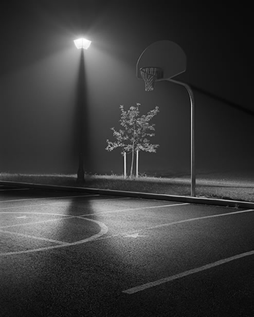 the gallery for gt basketball court black and white